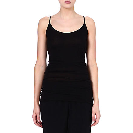 ENZA COSTA Sleeveless jersey vest top (Black