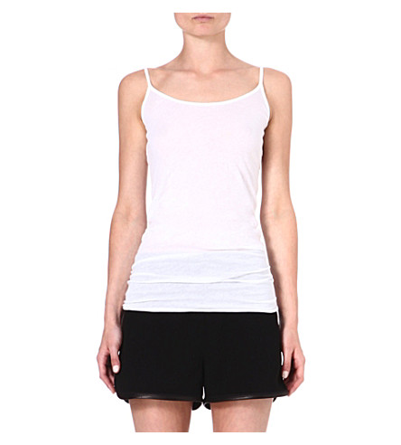 ENZA COSTA Sleeveless jersey vest top (White