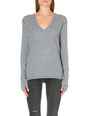 ENZA COSTA Thumbhole-detail knitted jumper