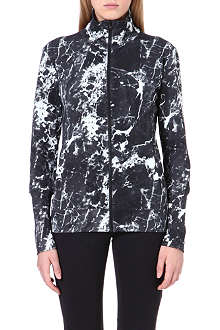 NORMA KAMALI Abstract-print zip-up jakcet
