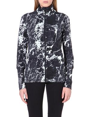 NORMA KAMALI Abstract-print zip-up jakcet