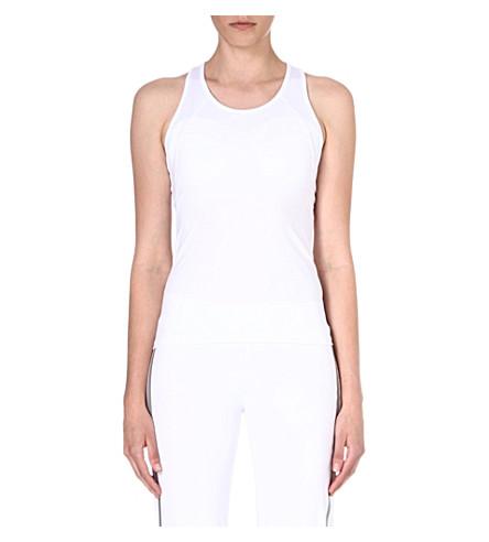 NORMA KAMALI Mesh-panel racerback vest (White