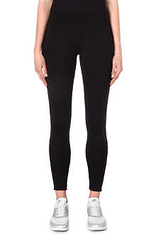 NORMA KAMALI Mesh-detailed leggings