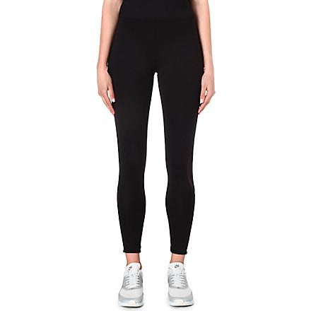NORMA KAMALI Mesh-detailed leggings (Black