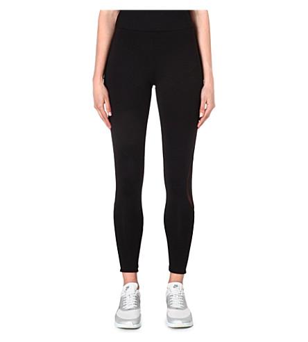 NORMA KAMALI Mesh-detailed leggings (Black