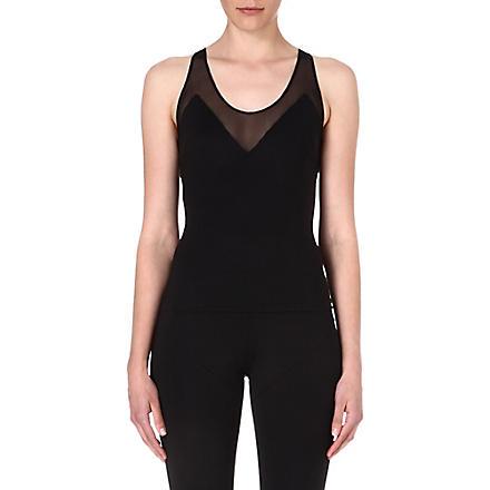 NORMA KAMALI Mesh-detailed vest (Black