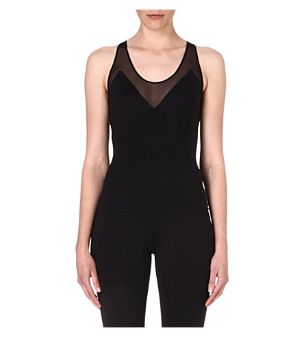 NORMA KAMALI Mesh-detailed vest (Black