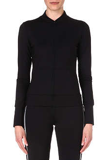 NORMA KAMALI Mesh-back zip-up top