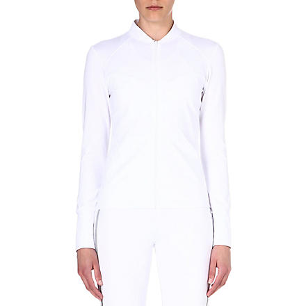 NORMA KAMALI Mesh-back zip-up top (White