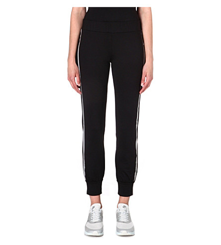 NORMA KAMALI Reflective jogging bottoms (Black