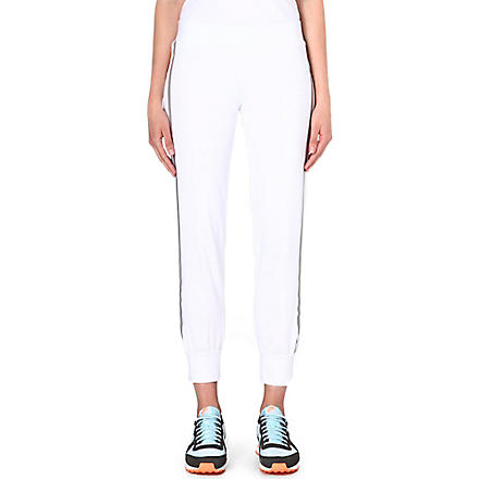 NORMA KAMALI Reflective jogging bottoms (White
