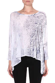 ENZA COSTA Printed jersey top
