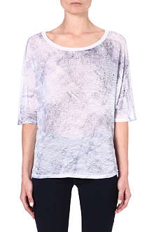 ENZA COSTA Printed jersey t-shirt