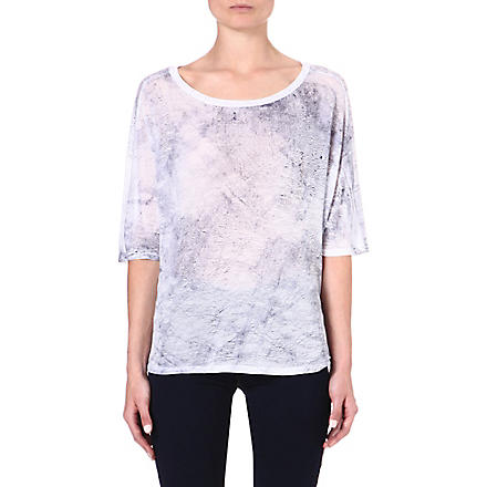 ENZA COSTA Printed jersey t-shirt (White/baltic