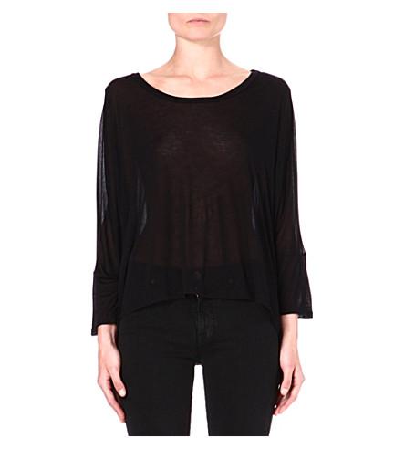 ENZA COSTA Oversized jersey top (Black