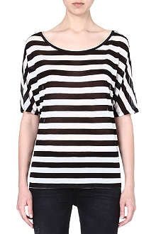 ENZA COSTA Striped jersey t-shirt