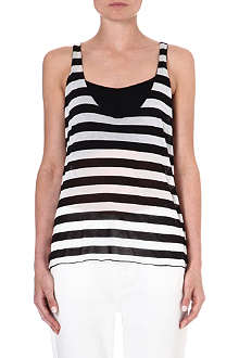 ENZA COSTA Striped jersey vest