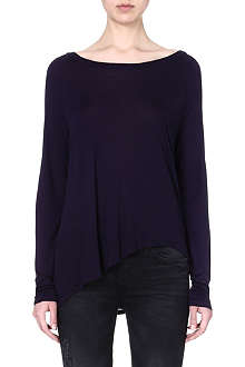 ENZA COSTA Asymmetric-hem jersey top