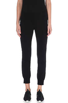 NORMA KAMALI Cropped jersey jogging bottoms