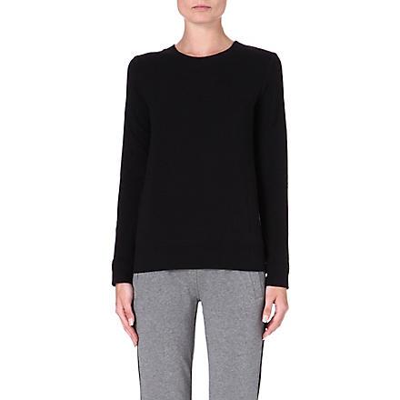 NORMA KAMALI Jersey sweatshirt (Black