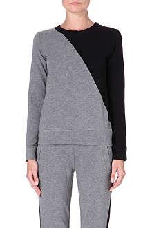 NORMA KAMALI Contrast-panel jersey sweatshirt