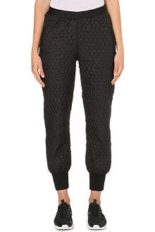 NORMA KAMALI Quilted silk trousers
