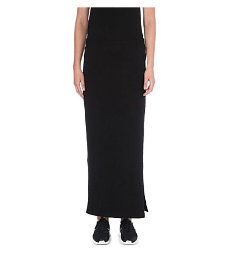 NORMA KAMALI Side split jersey skirt (Black