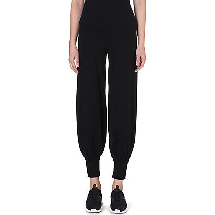 NORMA KAMALI Jersey harem jogging bottoms (Black
