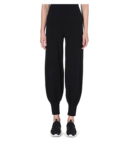NORMA KAMALI Jersey harem jogging bottoms (Black