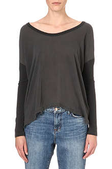 JAMES PERSE Contrast jersey top