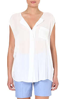 JAMES PERSE Sleeveless sheer blouse