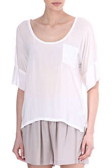 JAMES PERSE Double-sleeve chiffon t-shirt
