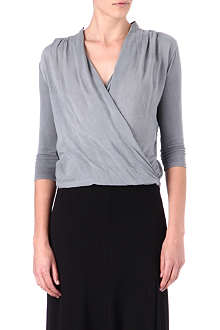 JAMES PERSE Drape-front top