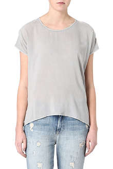 JAMES PERSE Oversized dipped-hem top