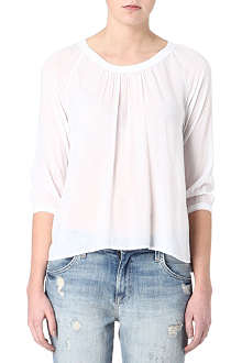 JAMES PERSE Gathered-neckline crepe top