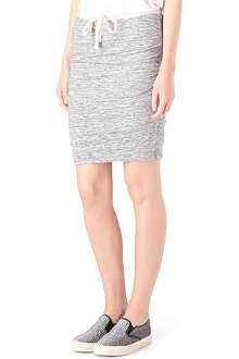 JAMES PERSE Drawstring cotton-jersey skirt