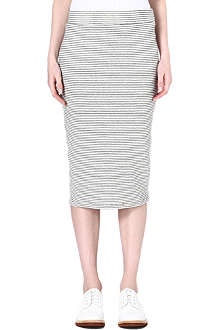 JAMES PERSE Striped midi skirt