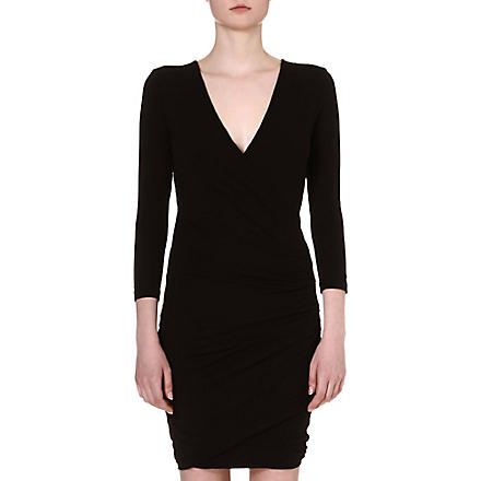 JAMES PERSE Wrap jersey dress (Black