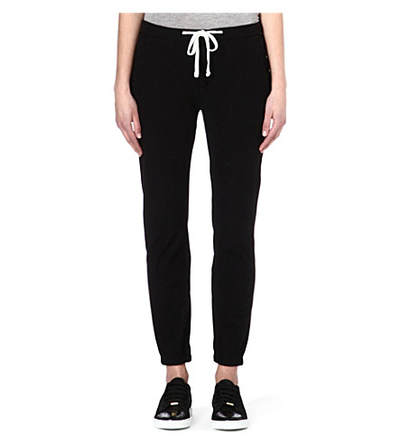 JAMES PERSE Relaxed jersey jogging bottoms (Black