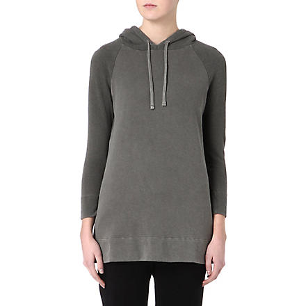JAMES PERSE Colour-blocked cotton hoody (Spruce