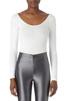 AMERICAN APPAREL Scoop-neck bodysuit