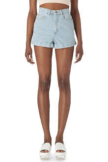 AMERICAN APPAREL High-rise denim shorts
