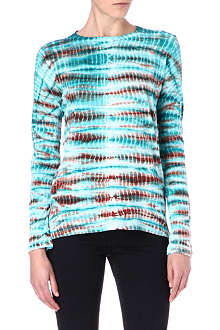 PROENZA SCHOULER Long-sleeved tie-dye top