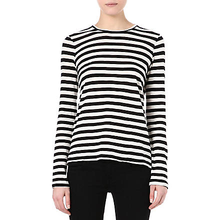 PROENZA SCHOULER Striped top (Black/ ecru