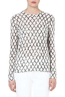 PROENZA SCHOULER Diamond-print top