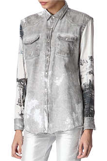 EACH X OTHER Silk and denim shirt