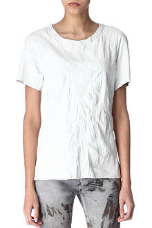 EACH X OTHER Crinkled leather t-shirt