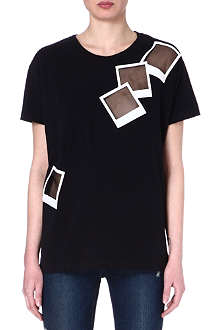 EACH X OTHER Polaroid sheer-detail t-shirt