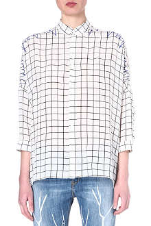 EACH X OTHER Checked silk shirt