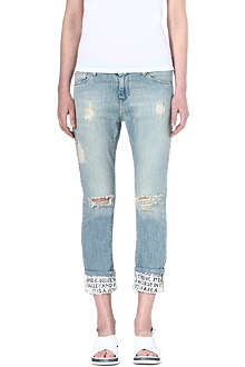EACH X OTHER Poem straight-leg mid-rise jeans